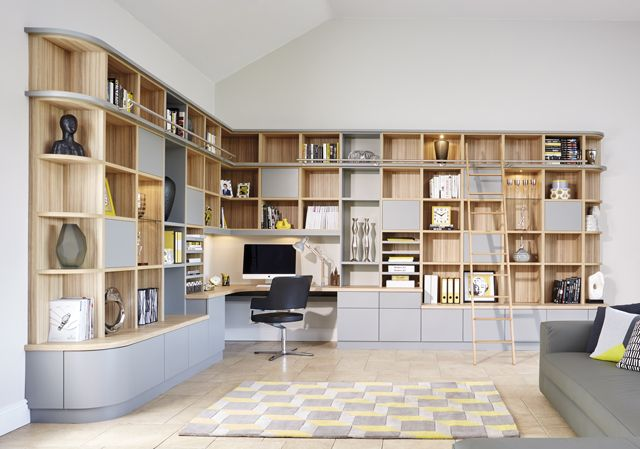 Grey Modern Library Study Home Design In 2019
