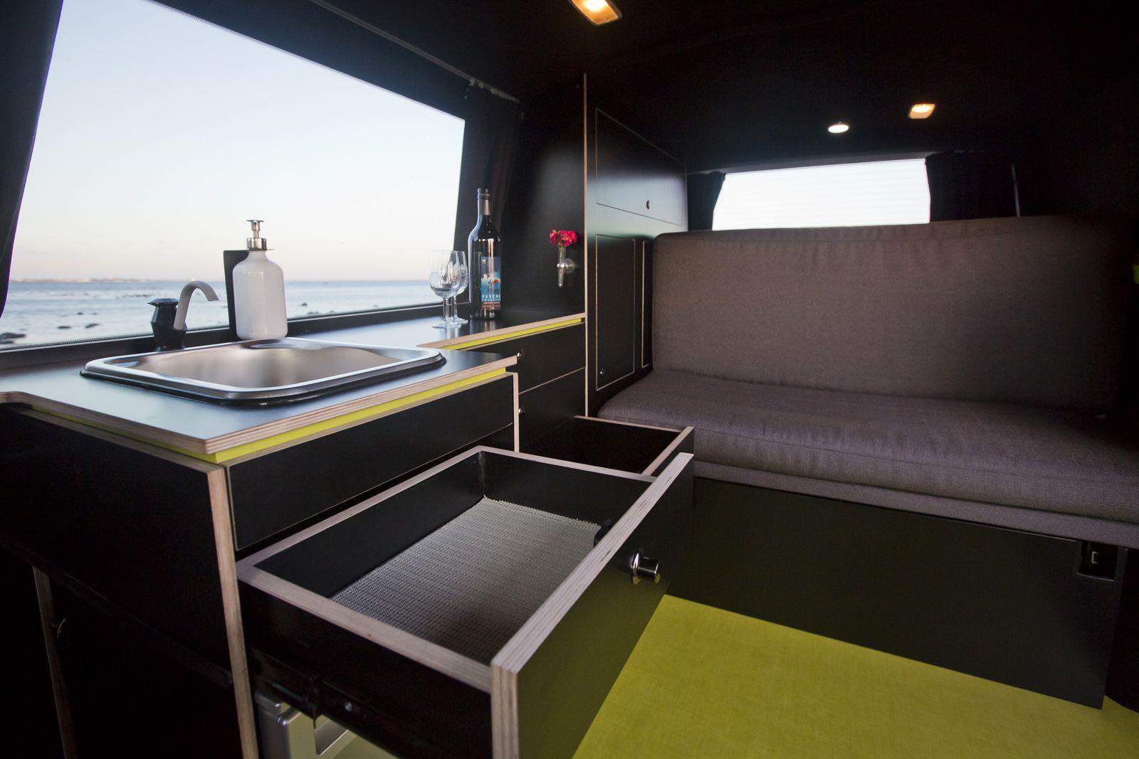 Achtung Camper Campervan cupboard storage for kitchen  VW