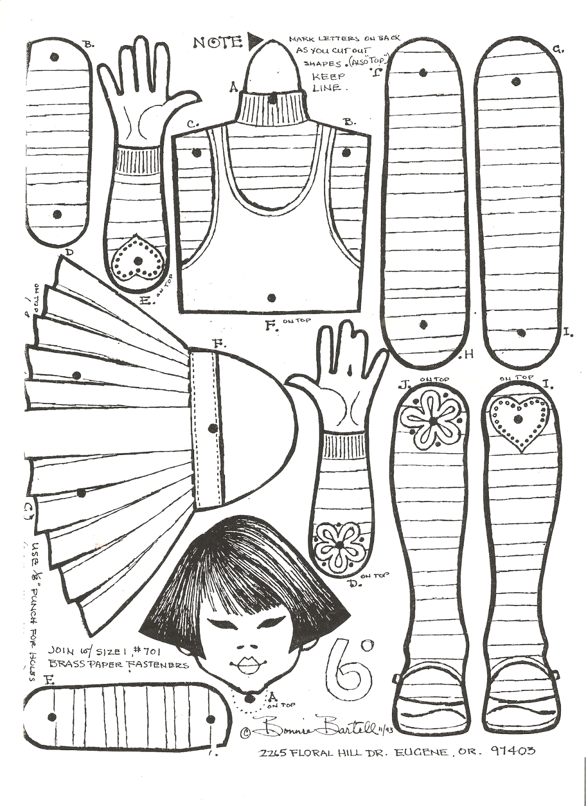 Pin on Jumping Jacks, puppets, articulated paperdolls