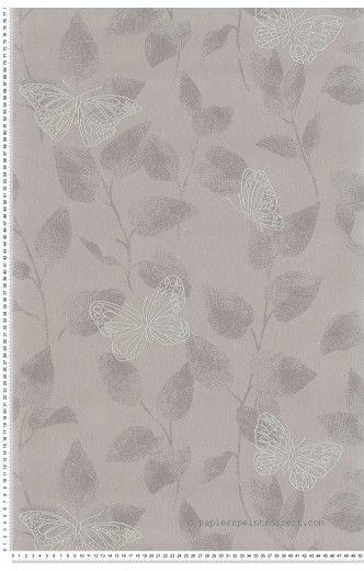papillons taupe papier peint as cr ation papier peint gris blanc fushia pinterest. Black Bedroom Furniture Sets. Home Design Ideas