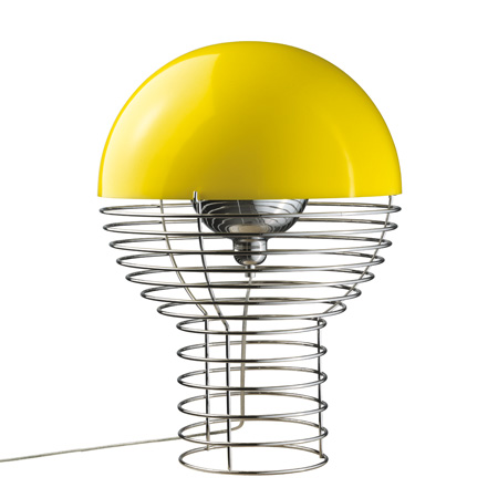 Verpan Wire Lamp. 5.995 kr. | Yellow table lamp, Modern lamp