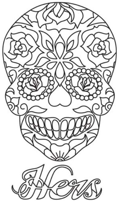Skulls Sugar Skulls To Color And Create Pinterest Sugar Skulls