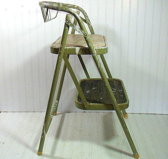 Vintage Sage Enamel Metal Folding Step Stool by DivineOrders $35.00 & Vintage Sage Enamel Metal Folding Step Stool by DivineOrders ... islam-shia.org