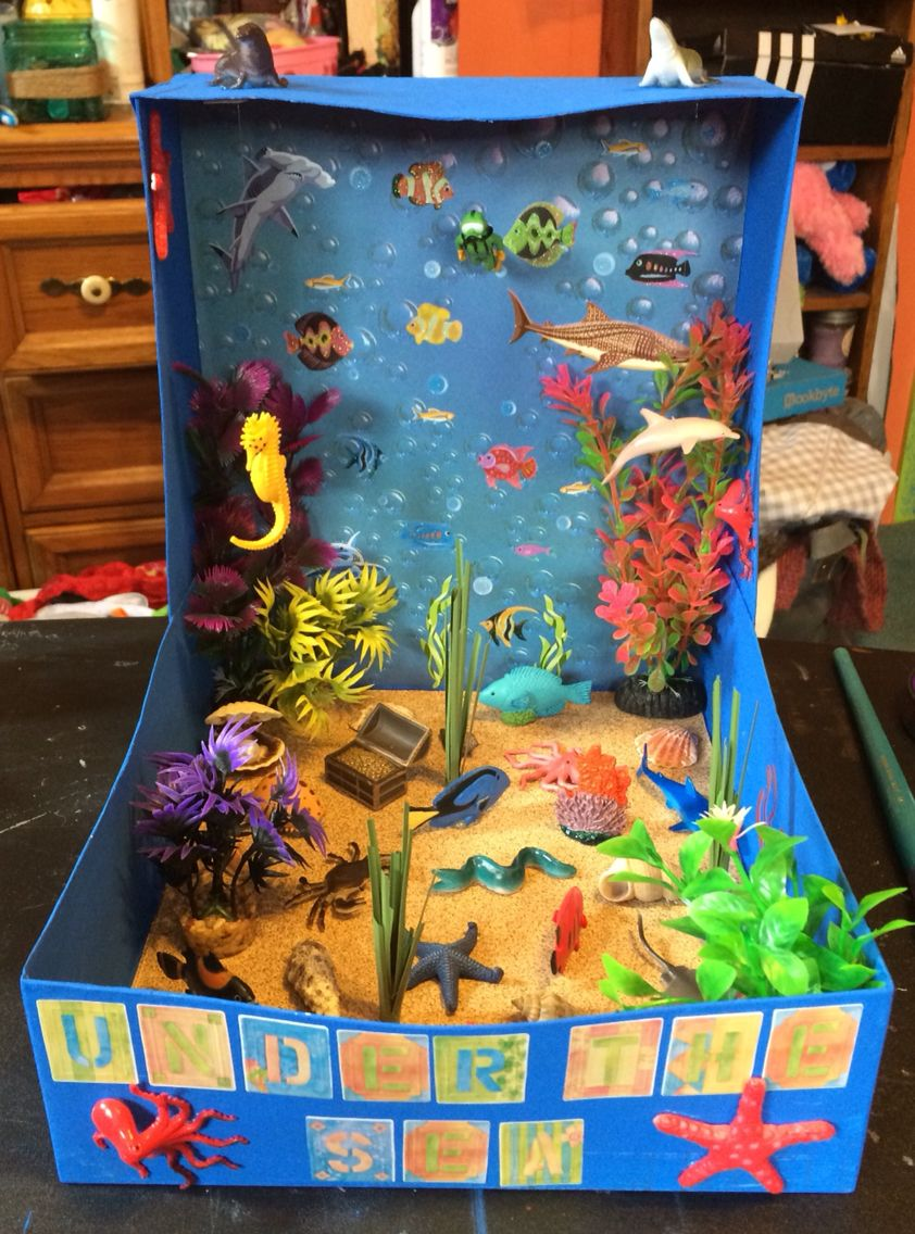 shoebox crafts ideas the sea biome crafts 2927