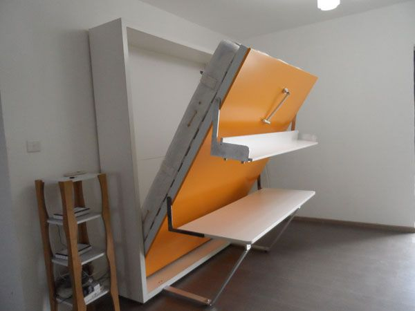 Wooden Folding Bed Folding Wall Bed With Desk Wall Bed Murphy