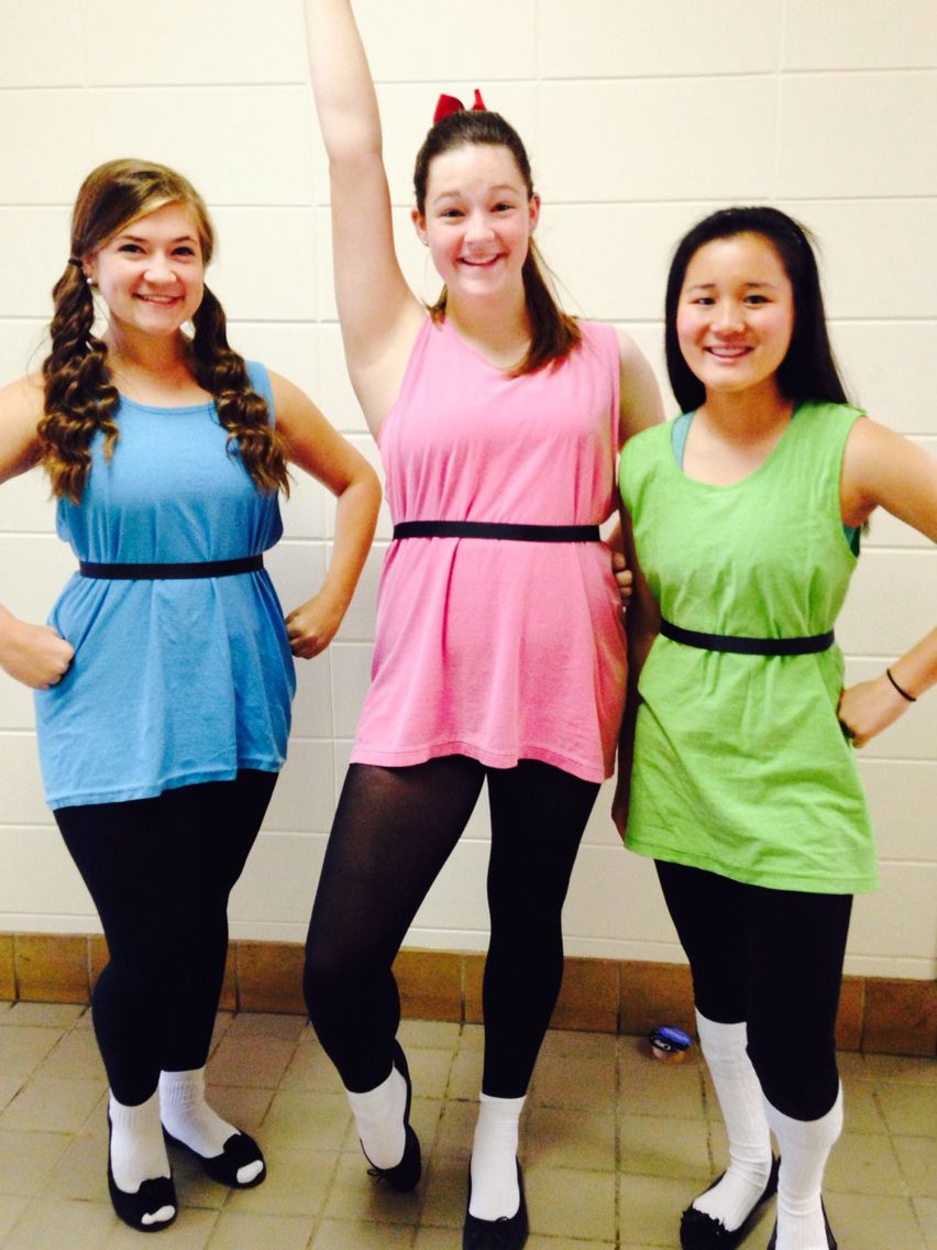 Adult powerpuff girls costumes