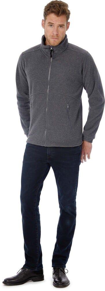 B&C CGICE - Herren Outdoor Full Zip Fleece FU703 Schwarz - XXL - polyester