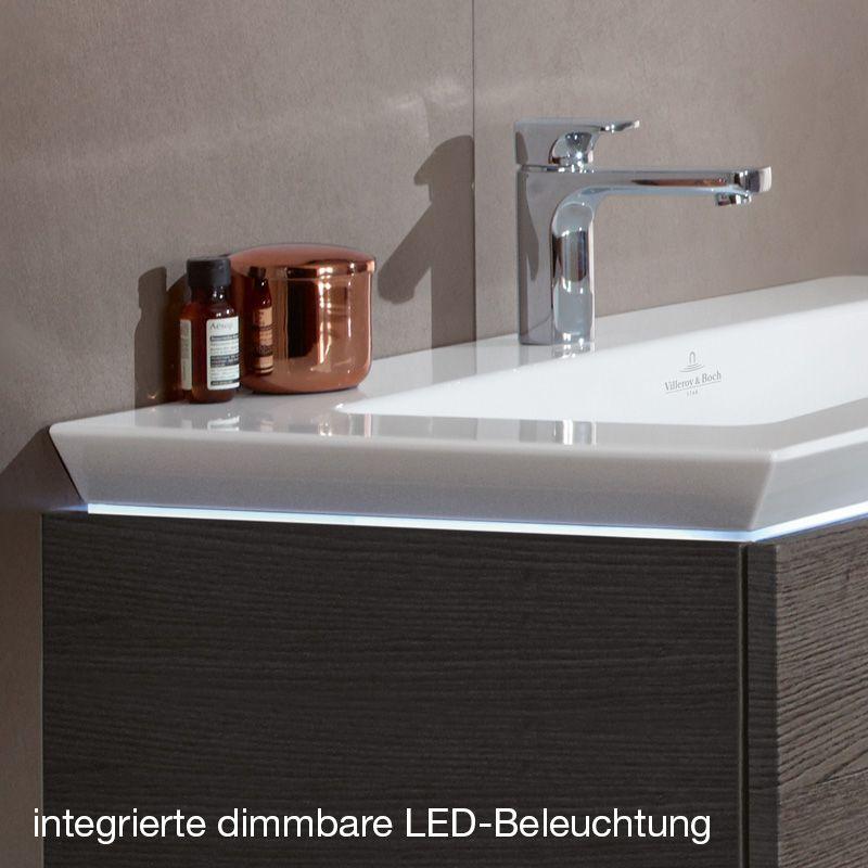 Villeroy  Boch Legato Meuble sous-lavabo avec LED pour 2 lavabos à