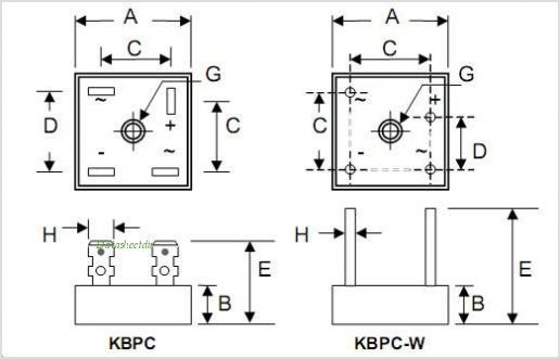 Kbpc5010 bridge rectifier wiring diagram further pont de diode large