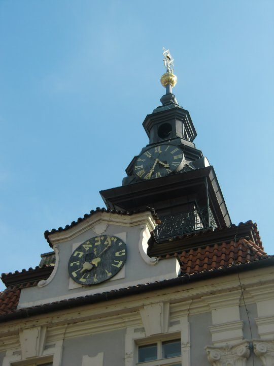 A Photo I Took Of A Set Of Clocks In The Old Jewish Quarter Of