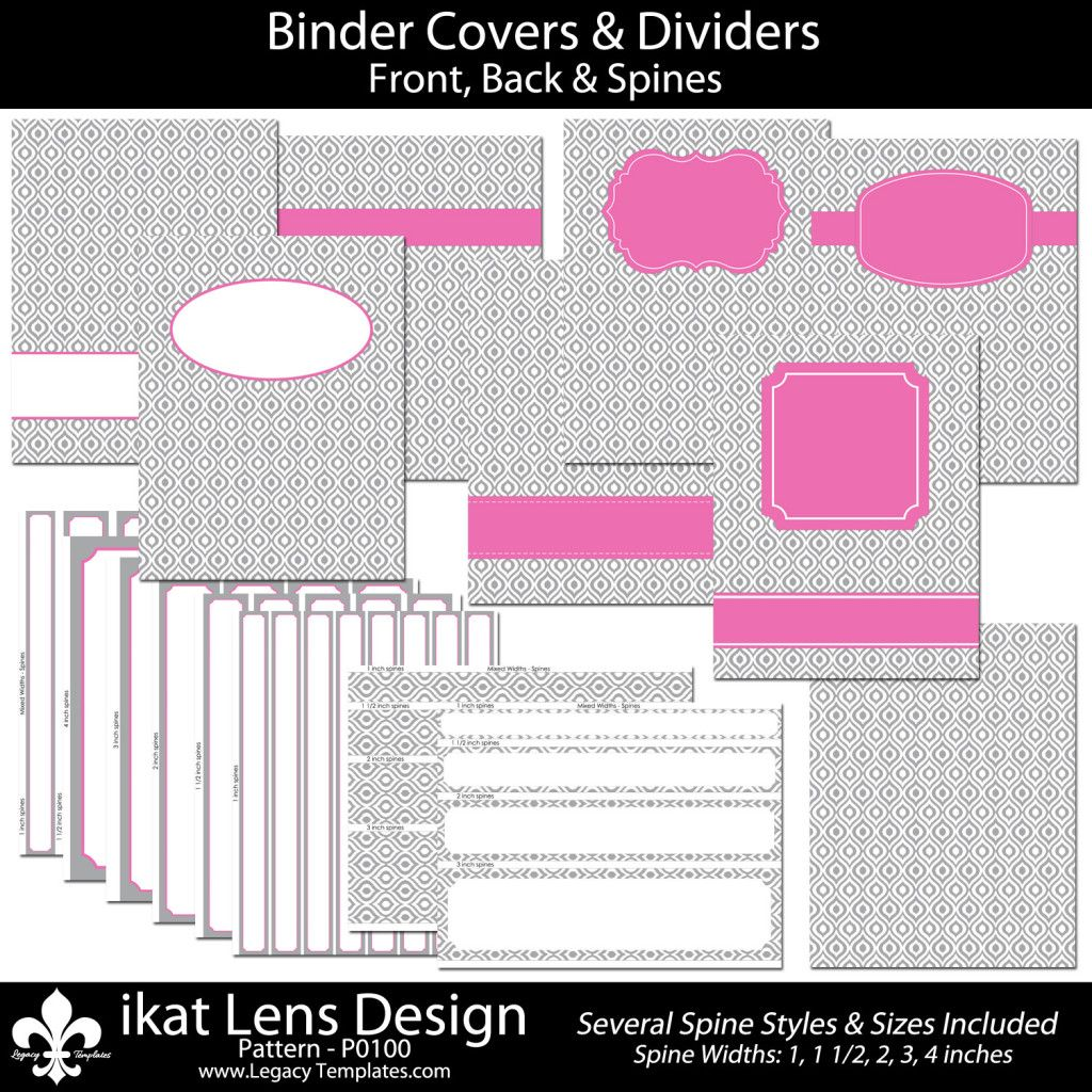 cute binder spine template