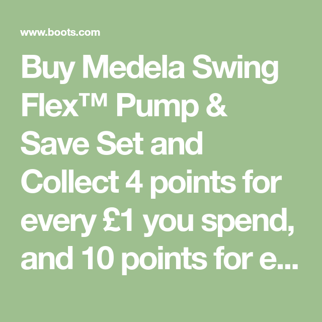 Medela Swing Flex Pump Save Set Exclusive To Medela Swing