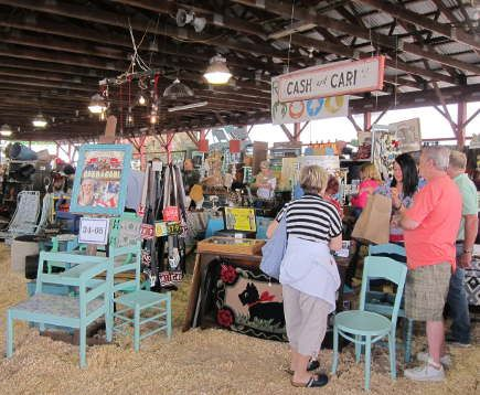 cash and cari booth at the country living fair cash and cari