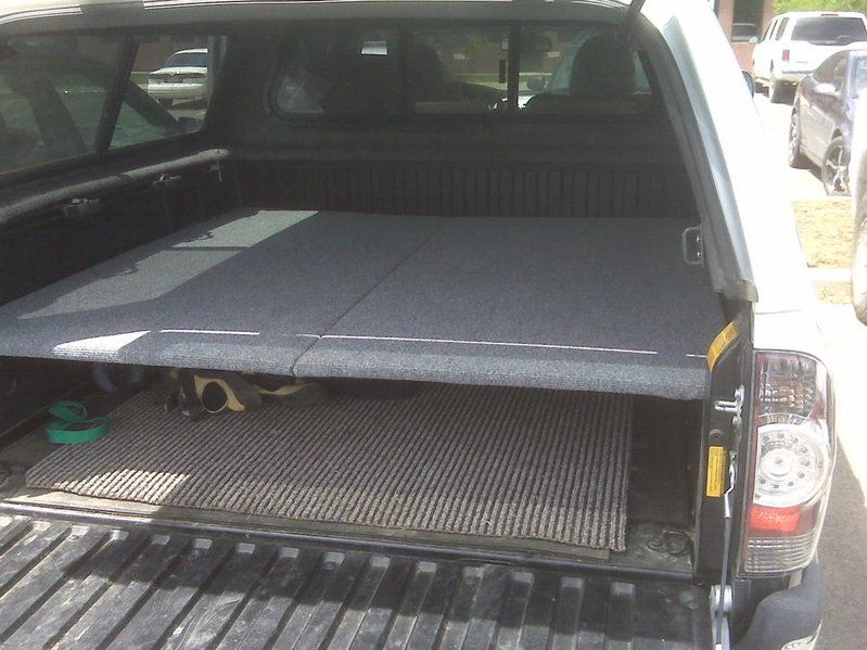 Simple Sleeping Platform Cheap Works Great Truck Bed