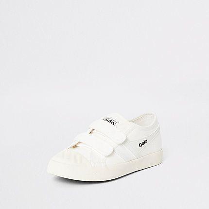 Boys Gola White Velcro Plimsolls Plimsolls Boy Shoes Shoe Size Conversion