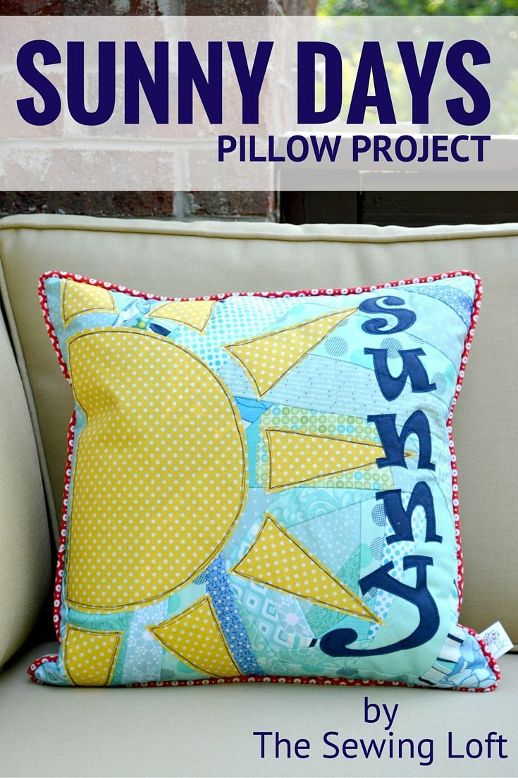 Sunny days pillow project fabric scraps pillows and scrap