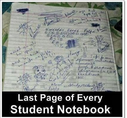 Last page of every student noebook