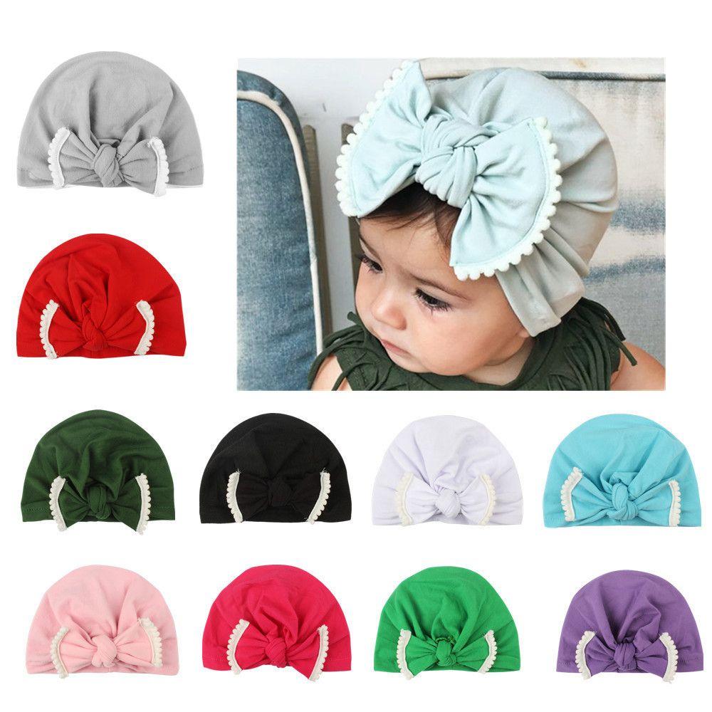 1PC Hat Cute Newborn Toddler Kids Baby Boy Girl Turban Cotton Beanie Hat  Winter Warm Cap 68253f3d7585