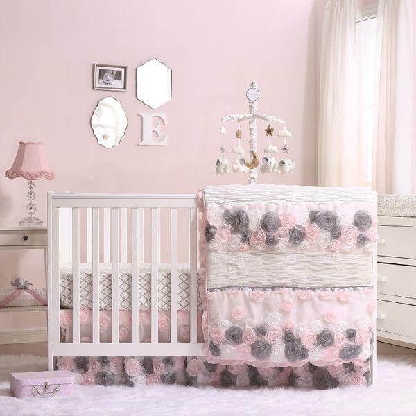 Colette Crib Bedding Set Crib Bedding Girl Baby Girl Crib