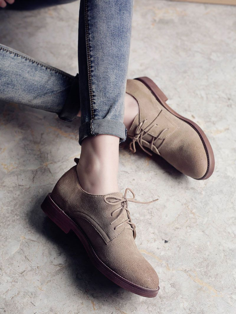 Women S High Quality Retro Leather Oxford Shoes In 2019 Clothes