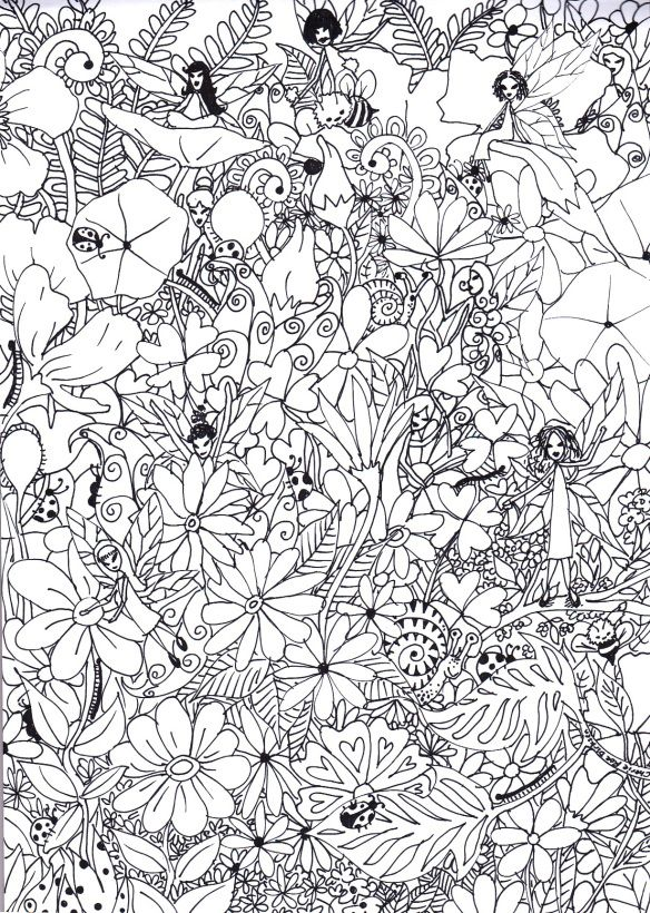 My Garden Colouring Page | Fairy, Coloring books and Adult coloring