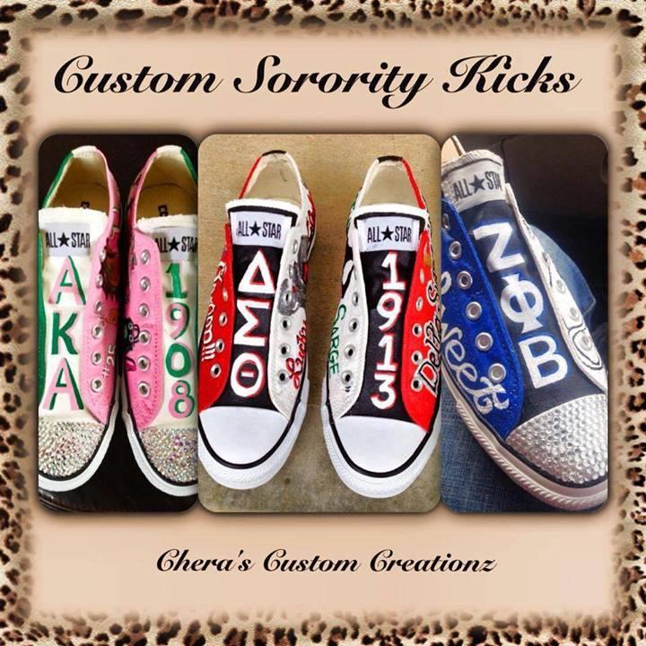 937928c21934 Custom NPHC sorority sneakers Aka Sorority
