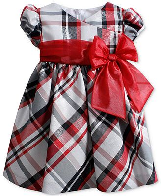 Bonnie Babby Dress Baby Girl Red Plaid Dress Mila Rose