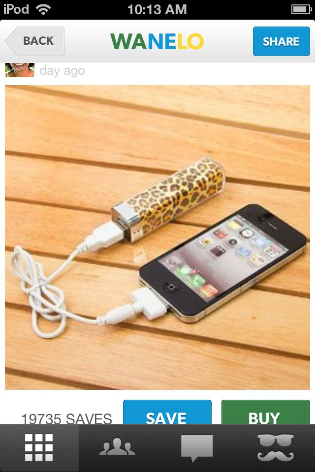 Portable charger that you don t have to plug into the wall!  02f28eb55