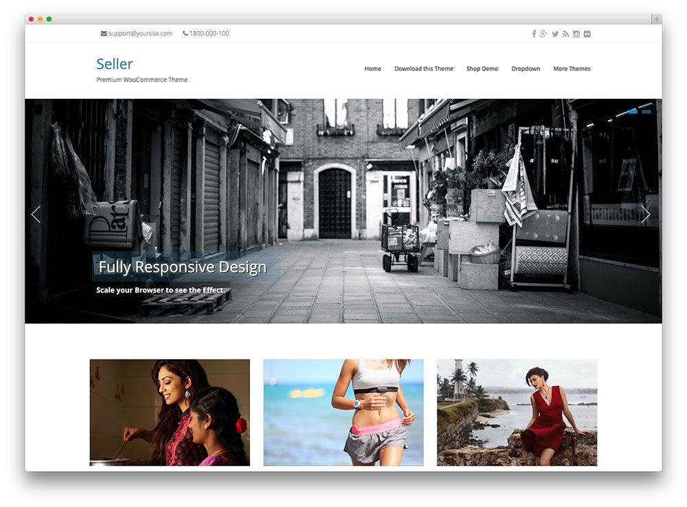 seller - minimal WooCommerce theme | Your Online Shop | Pinterest