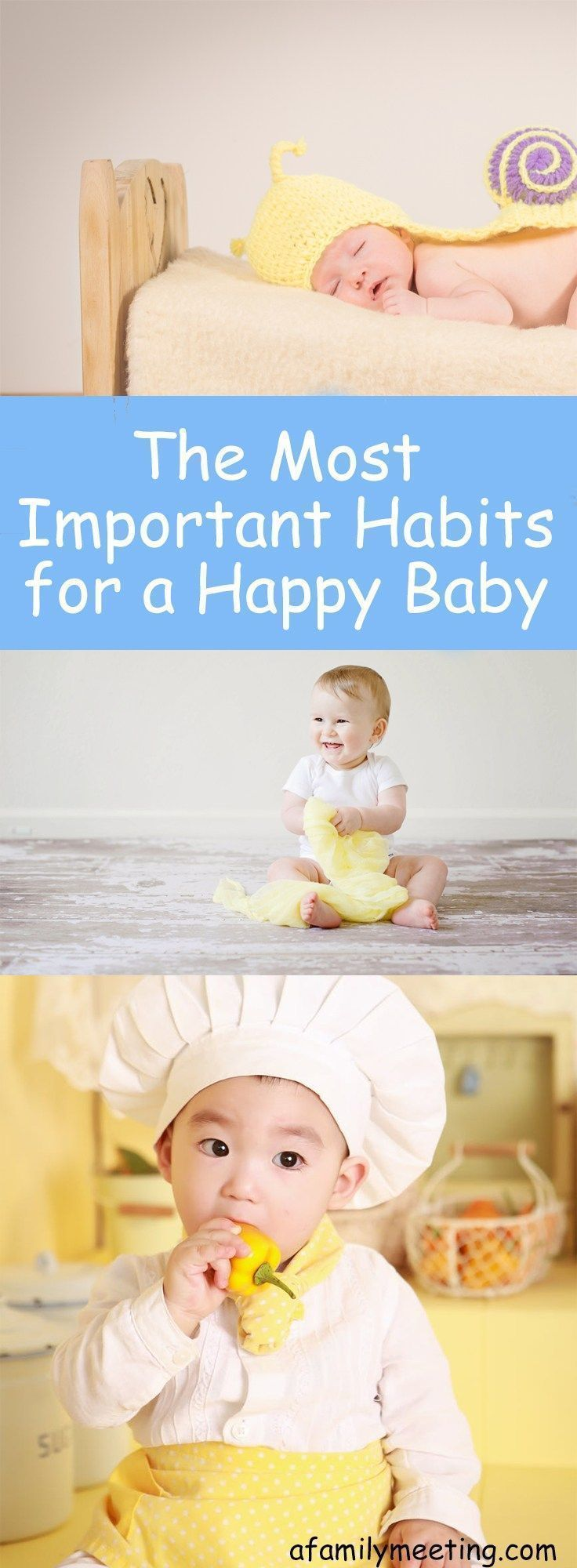 All moms want a happy baby. A happy baby brings joy and love and fun into a home. A fussy baby can be difficult for everyone in the house. Moms of happy babies know the two most important habits to create for a happy baby. Find out what two habits every parent of a baby needs to be working on. #sleep training #healthybaby