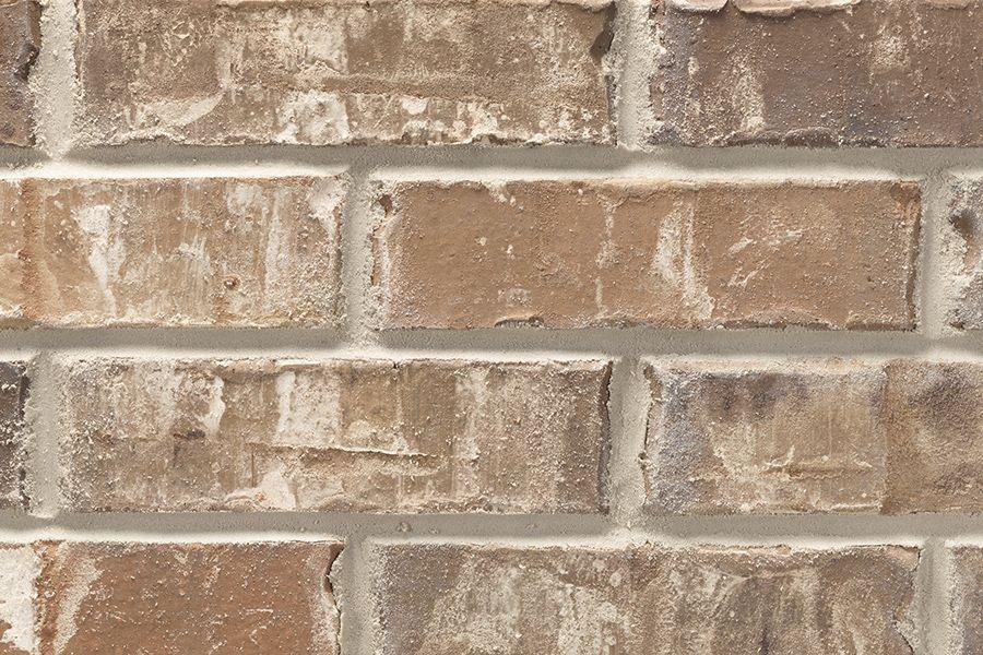 White Wash Red Brick Exterior