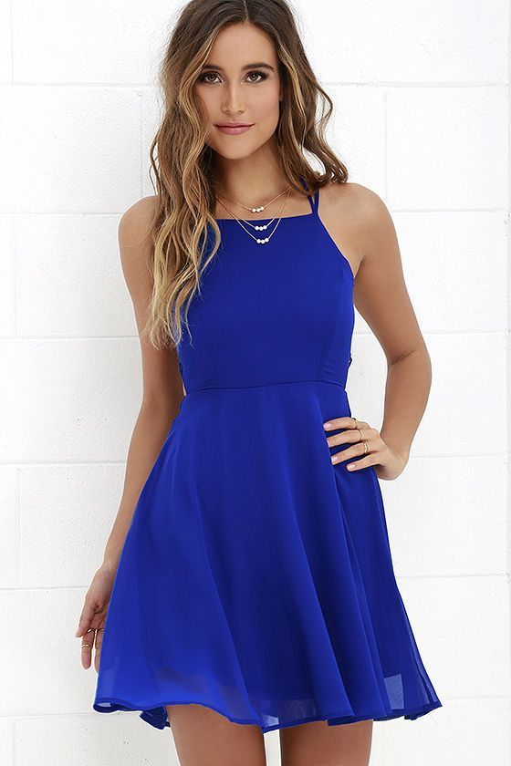 Pin By Kaycee Pierce On My Style Royal Blue Dresses Short