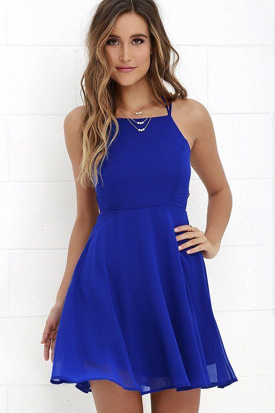 f529bd06c Pin de Curso de Organizacion del Hogar en 23 Vestidos de fiesta color azul  rey | Vestidos cortos, Vestidos y Vestidos azules cortos