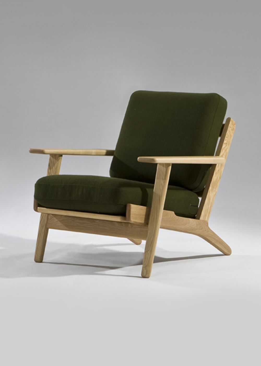 Wooden armchair with cushion - The Lark Lounge Chair Has A Solid Wood Frame With Spring And Foam Upholstered Cushions