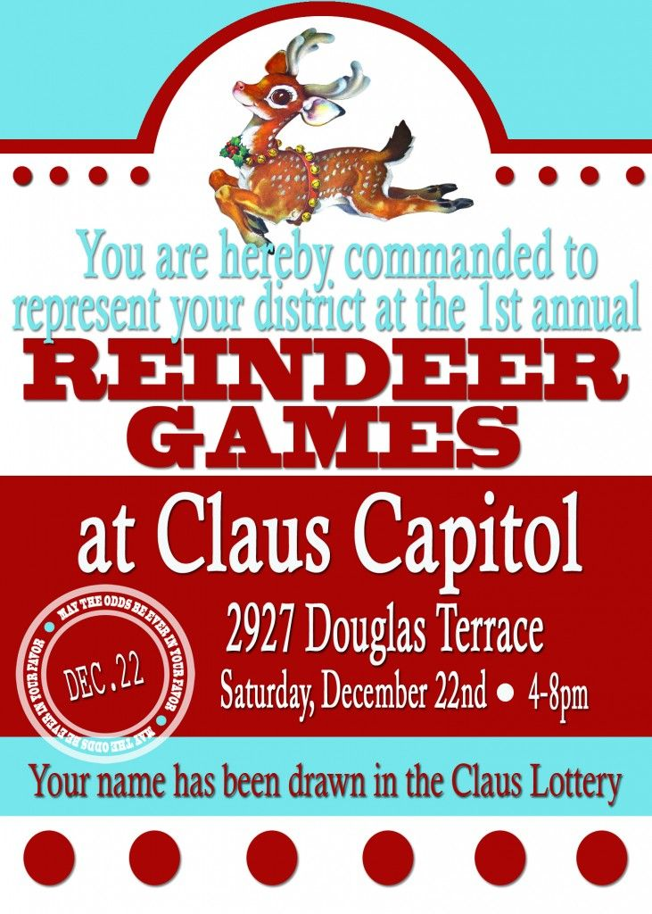 A Christmas Version of a Hunger Games Party …The Reindeer Games ...