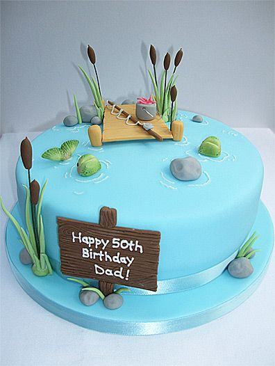 Swell Dad Maybe Use A Square Pan Add Grass On Either Side W River Personalised Birthday Cards Cominlily Jamesorg