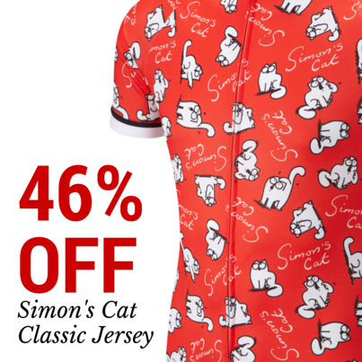 46% OFF Simon s Cat  Classic  cycle jersey ... now that s a bargain ...  when they re gone they re gone! 256a90a8e