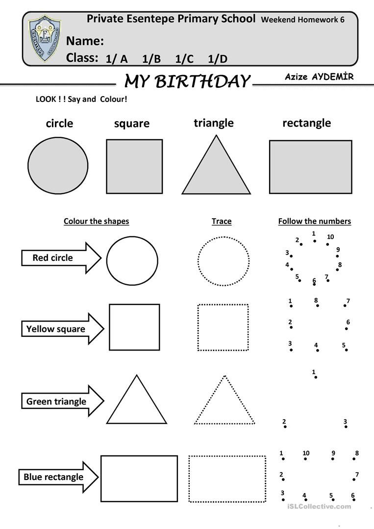 Look Say Color Shapes In English Free Download Kindergarten Addition Worksheets Worksheets Shapes Worksheet Kindergarten [ 1079 x 763 Pixel ]