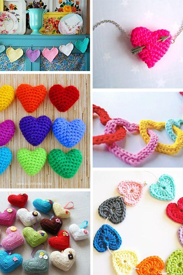 ¿Qué hay más de amor que tejer para los enamorados?¡Nada! Así que para manos ociosas y deseosas de darle a la aguja ¡corazones a ganchillo!