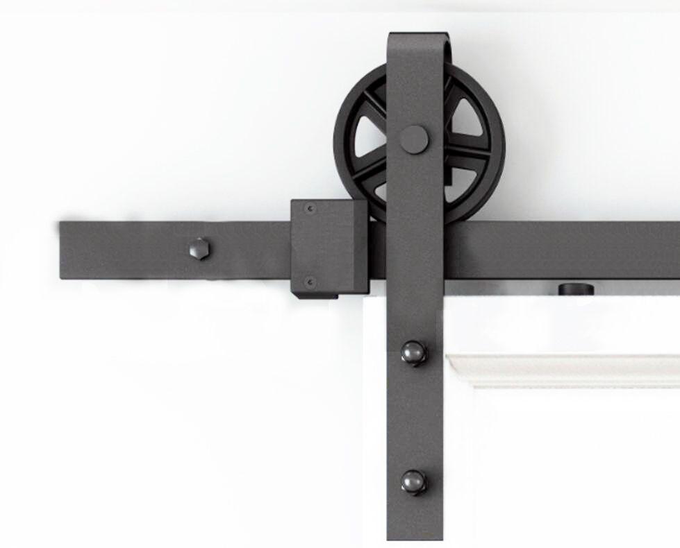 DIYHD 150 cm-300 cm Vintage Parlé Roue Industrielle Coulissante - Roulette Porte De Placard Coulissante