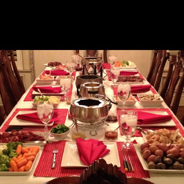 Wonderful Fondue Dinner Party Ideas Part - 13: Imagine Fondue Party At 1 Table