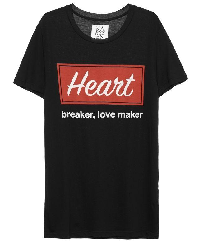 HEART BREAKER, LOVE MAKER LOOSE FIT TEE   Zoe Karssen