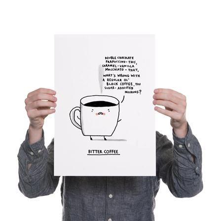 Lámina sin enmarcar Gemma Correll, Bitter Coffee de Ohh Deer