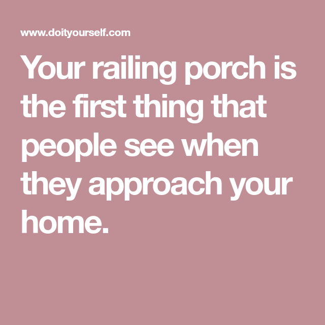 How to Repair a Rotting Porch Railing   Railing, Porch ...