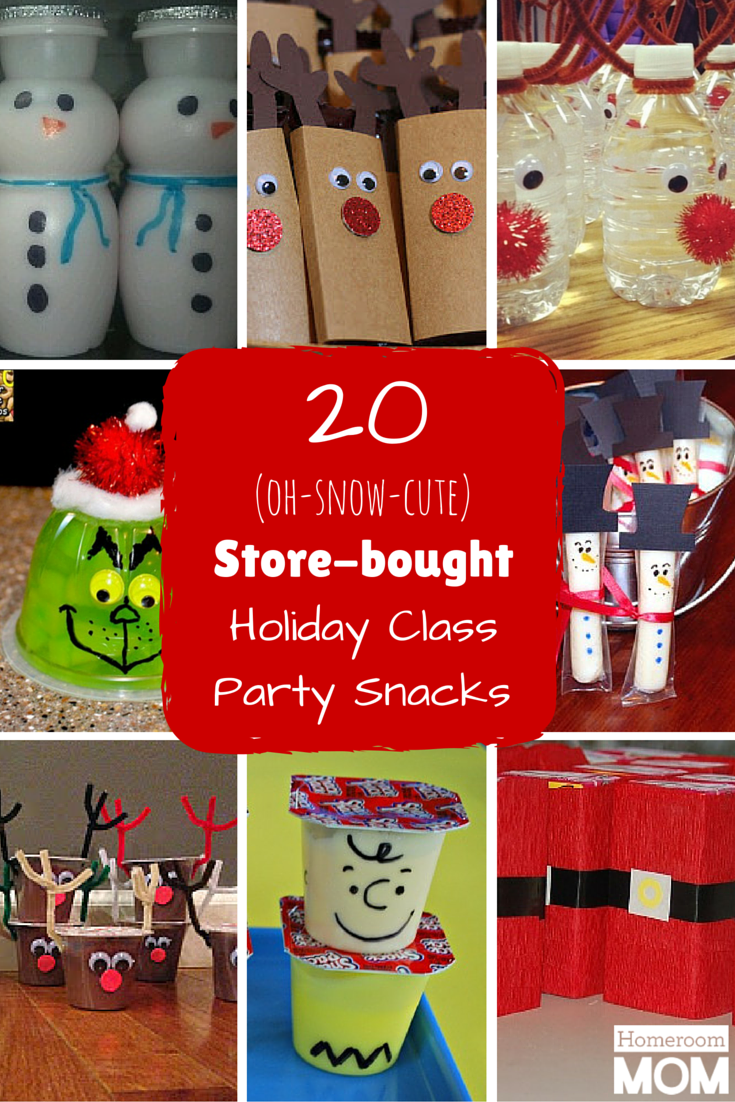 20 Pre-packaged Winter Holiday Class Party Snacks | Christmas-school ...