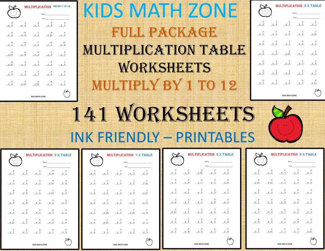 141 Multiplication Worksheets Printable For 2nd Grade To