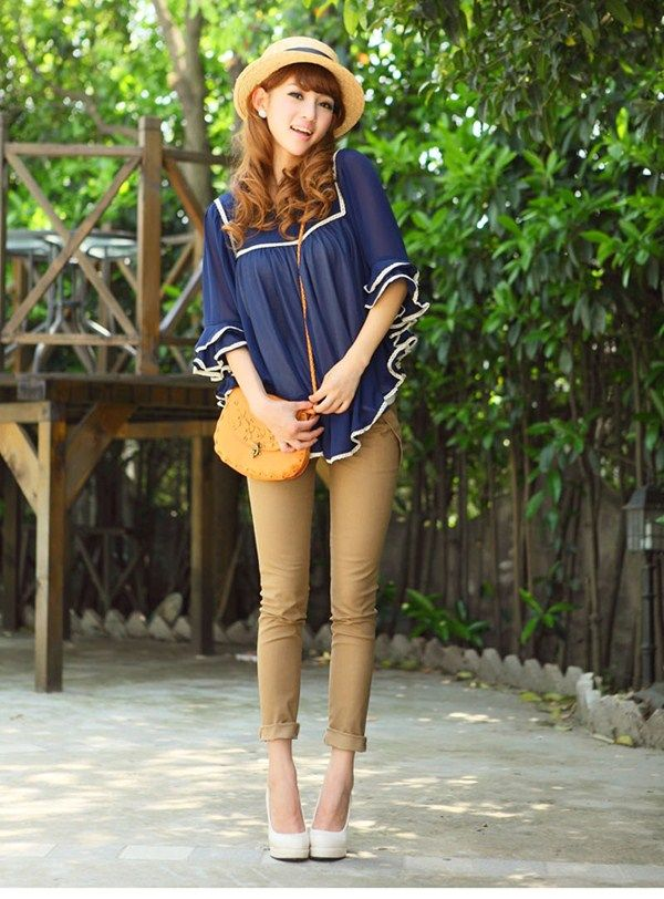 Stretch Skinny Pants with Belt At www.bonnito.com