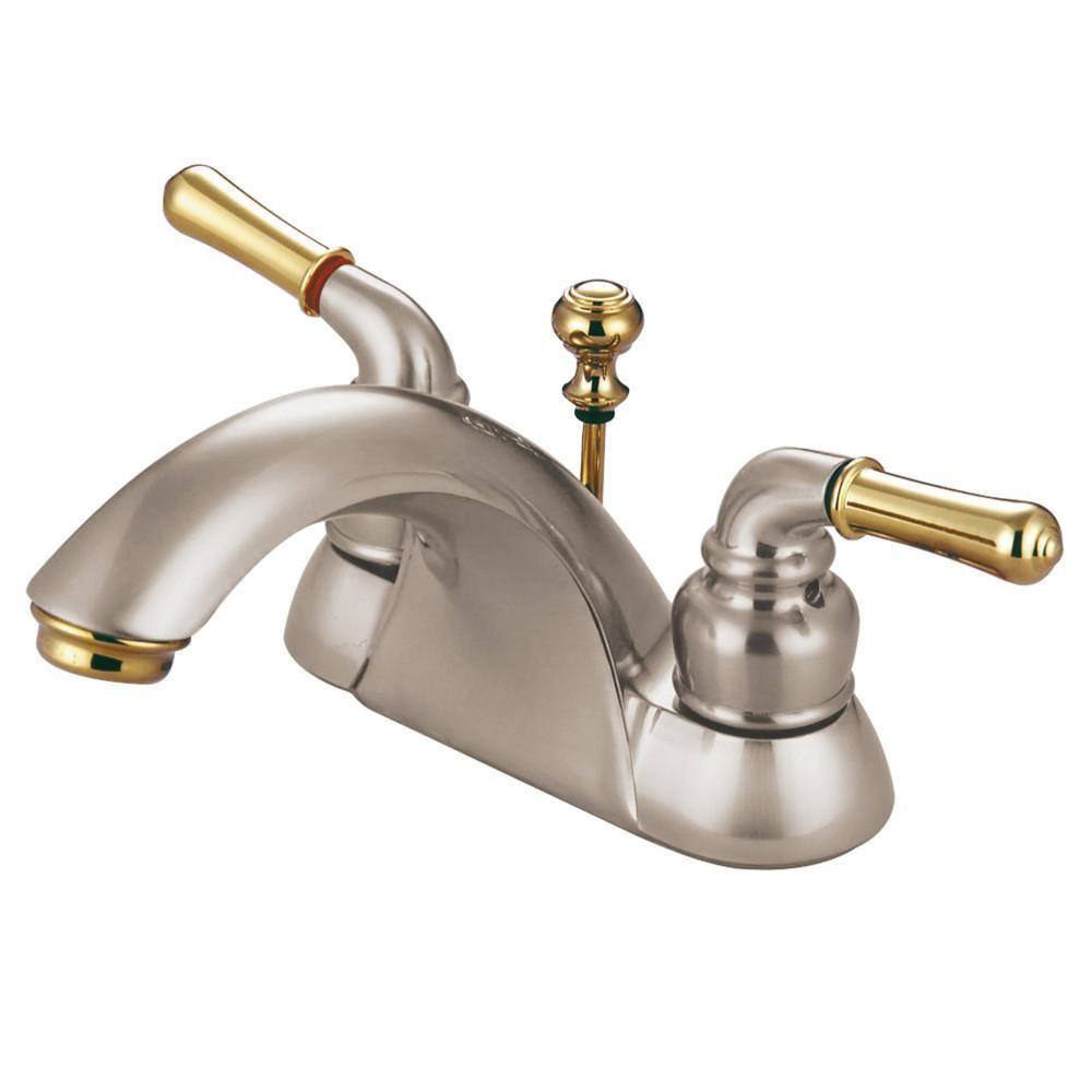 Kingston Satin Nickel Polished Brass 4 Centerset Bathroom Faucet Kb2629b Bathroom Faucets Kingston Brass Bathroom Sink Faucets