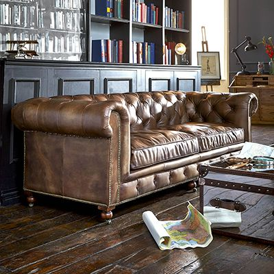 Best Asquith Leather Chesterfield Sofa 3 Seater Barker 400 x 300