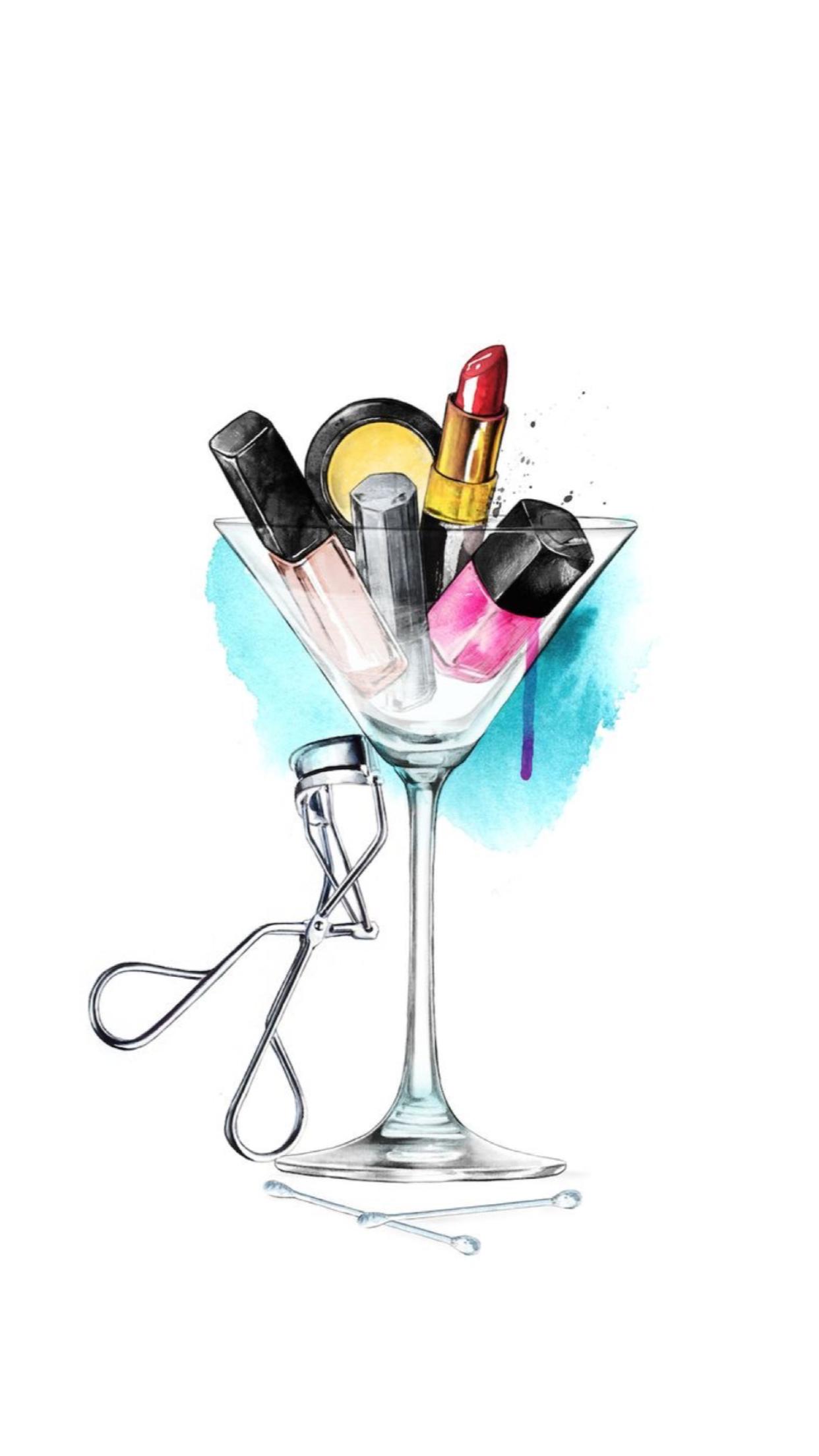 iPhone Wall tjn | iPhone Walls 4 | Makeup illustration, Makeup drawing, Makeup Art